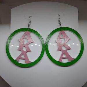 Alpha Kappa Alpha Earrings